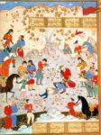 26/30 - Alexander zorgend voor stervende Dara, 15de eeuwse ill. Uit Nezami's Iskandername (Irak Museum, Bagdad)