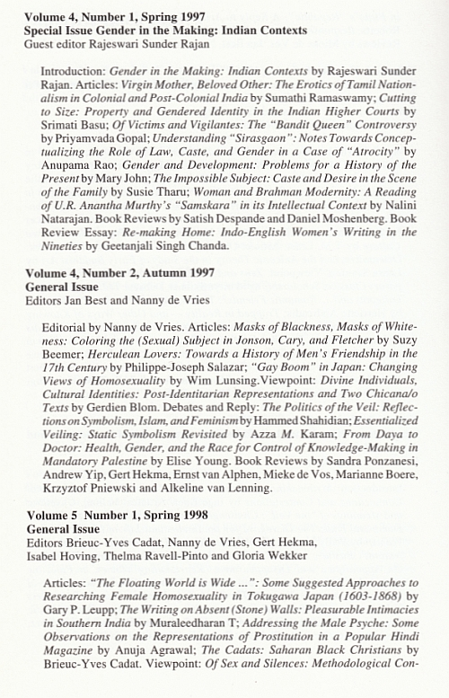 Back Issues Thamyris Vol.7, No. 1/2 - 2000, 3e pagina